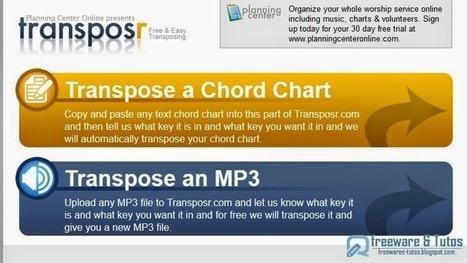 Transposr : un outil en ligne pour transposer vos fichiers audio dans la tonalité de votre choix | Français Langue Etrangère et Technologies | Scoop.it