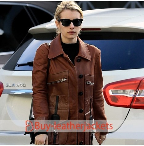 Emma Roberts Leather Jacket In Buy Leatherjackets Com Scoop It