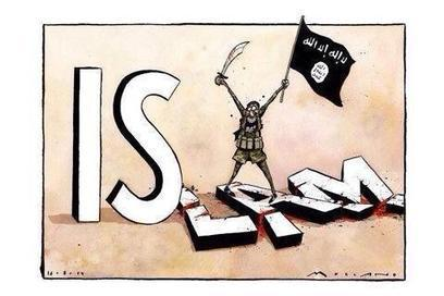 """Ayman Mohyeldin on Twitter: """"What ISIS is really doing - another poignant political cartoon #ISIS #Syria #iraq #us #islam http://t.co/PiyezrLTyH"""" 