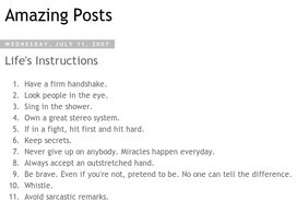 Amazing Posts: Life's Instructions   Epic Awesomeness   Scoop.it