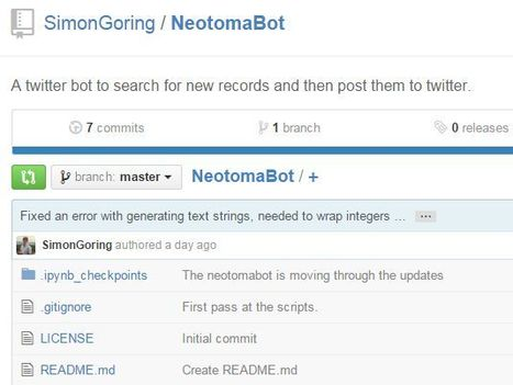 Explorations in outreach - Creating a Twitter bot for the Neotoma Paleoecological Database. | Twitter Bots | Scoop.it