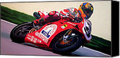Neil Hodgson | Ducati World Superbike Painting by Jeff Taylor  | fineartamerica.com | Ductalk Ducati News | Scoop.it
