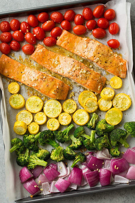 Sheet Pan Honey Mustard Salmon and Rainbow Veggies - Cooking Classy | Passion for Cooking | Scoop.it
