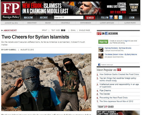 """""""Two Cheers"""" for Terrorism: #US Mainstream #Media Applauds #Syria's Al Qaeda Rebels 