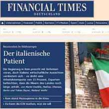 «Il paziente italiano»: così il Financial Times Deutschland racconta la recessione in Europa del Sud | The Matteo Rossini Post | Scoop.it