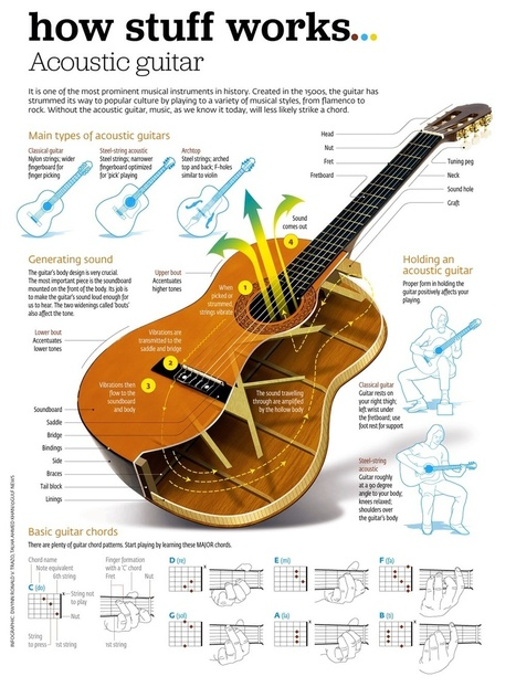 How Stuff Works: Acoustic Guitar | Inspirational Infographics | Scoop.it