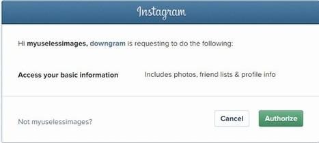 Comment télécharger toutes les photos Instagram d'un coup? | Applications du Net | Scoop.it