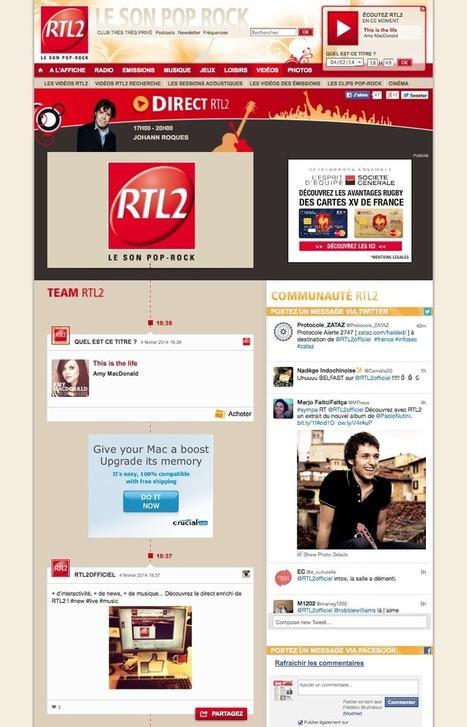 Le direct enrichi de RTL2. Player radio aéré avec une belle timeline interactive. | Radio 2.0 (En & Fr) | Scoop.it