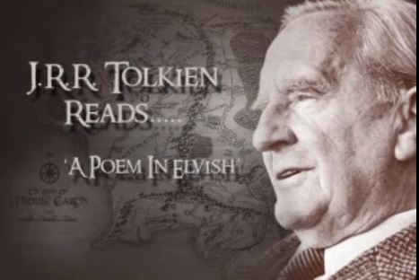 Listen to J.R.R. Tolkien Read Poems from The Fellowship of the Ring, in Elvish and English (1952)   ICT hints and tips for the EFL classroom   Scoop.it