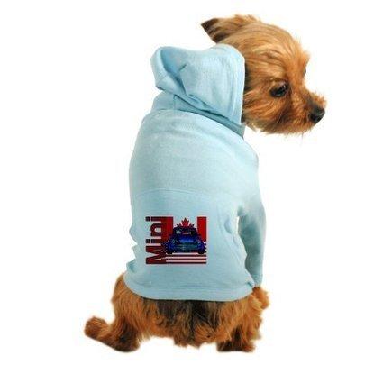 c49ae140 CafePress CanAm Mini Dog Hoodie - L Light Blue [Misc.] | DOG APPAREL
