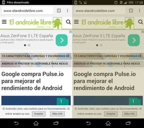 Protege tu vista con esta app de filtro azul [Android] | MLKtoSCL | Scoop.it