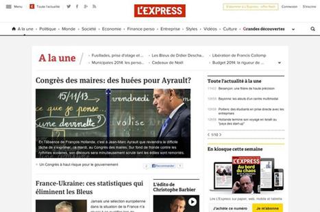 L'Express repense son site web en s'inspirant de l'ergonomie mobile | Les médias face à leur destin | Scoop.it