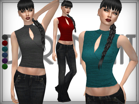 28ee84423eb The Sims Resource  Jersey Crop Top by DarkNighT...