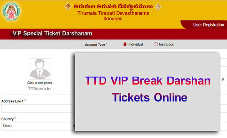 TTD VIP Break Darshan Online Tickets Process Ti