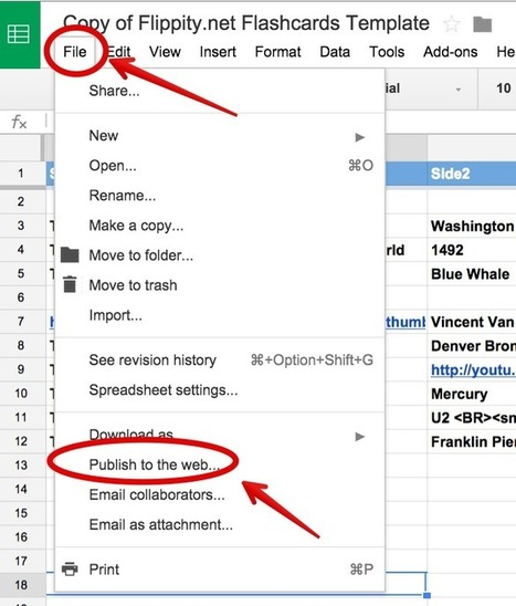 A Step By Step Guide On How to Create Flashcards Using Google Spreadsheets ~ Educational Technology and Mobile Learning | Technology for Kids in the Classroom | Scoop.it