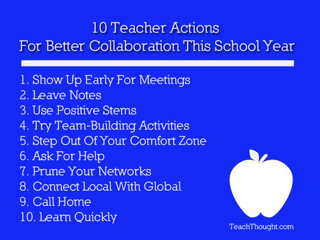 10 Teacher Actions For Better Collaboration This School Year | Educational Technology - Yeshiva Edition | Scoop.it