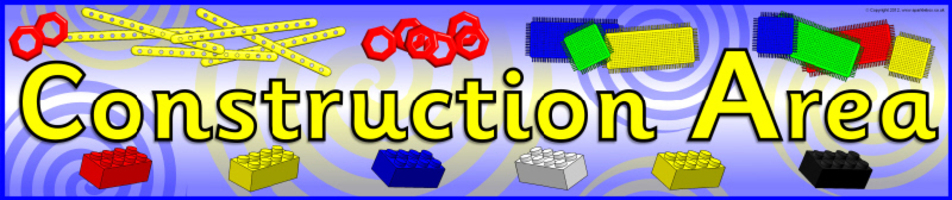Construction Area Printable Classroom Signs and