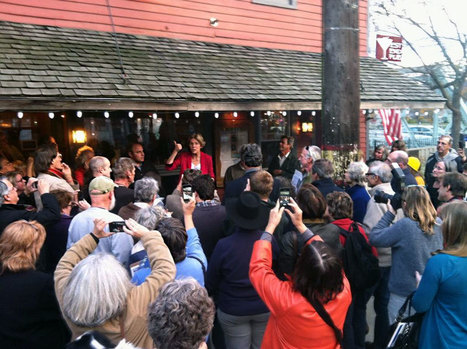"photo: ""Great to see everyone at the West End Pub in Shelburne Falls! - @ElizabethforMA 