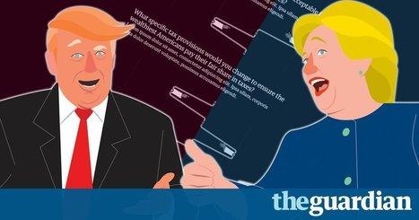Présidentielles US : suivre un débat en scrollant | Journalisme graphique | Scoop.it