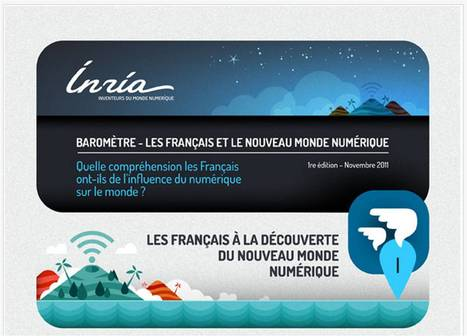 Les Français & Le Nouveau Monde numérique | Inria [INFOGRAPHIC] | All about Data visualization | Scoop.it