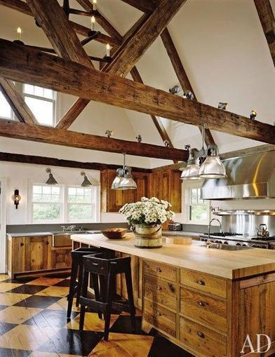 Wood Ceiling Beams Wide Plank Flooring Decorative Barn Siding