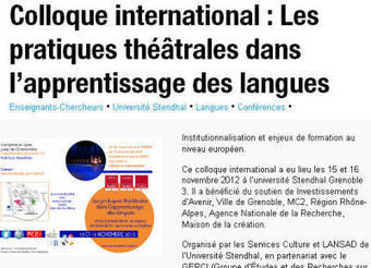 Théâtre FLE - Apprentissage Langues | LANGUES  (classe 400) | Scoop.it