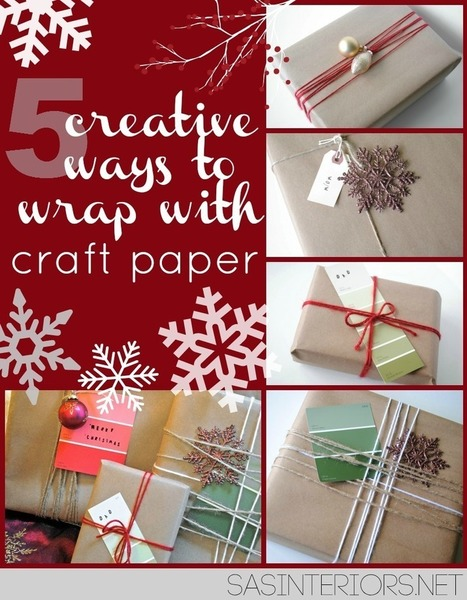 5 Creative Ways to Wrap with Craft Paper | AB Design Fotos | Scoop.it