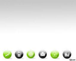 plantilla powerpoint con iconos de negocio ppt