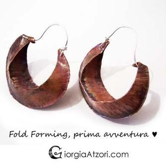 Fold Forming: la forgiatura delle pieghe | Orecchini Fai da Te: i migliori tutorial | Scoop.it