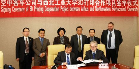 Airbus signe un partenariat avec une université chinoise autour de l ... - Ze Small Factory | Fabrication numérique & réalité virtuelle | Scoop.it