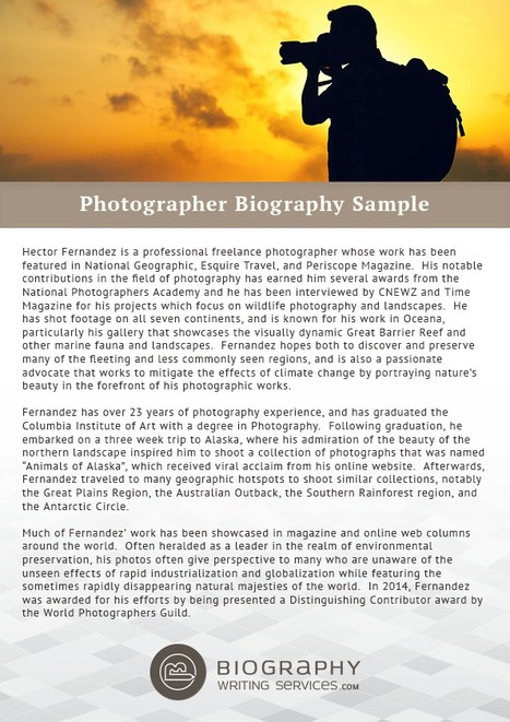 Sample for Business Biography | Best Biography ...
