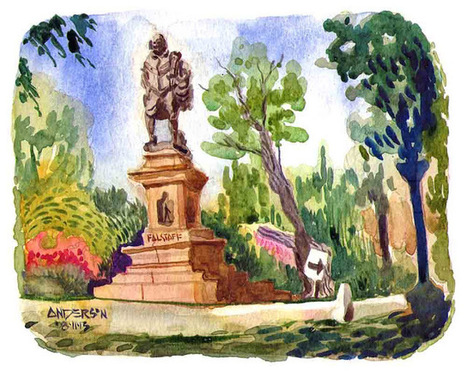 Urban Sketchers Midwest: Shakespeare Statue, St. Louis | Saint Louis Who's Who & What's What | Scoop.it