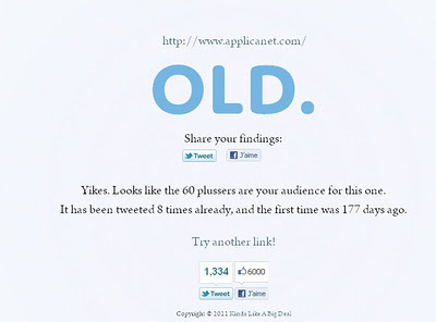 Isitold: Pour savoir si un lien est ancien | Logicamp.org | Scoop.it