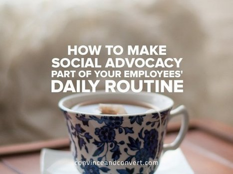 How to Make Social Advocacy Part of Your Employees' Daily Routine   Convince and Convert   SocialMoMojo Web   Scoop.it