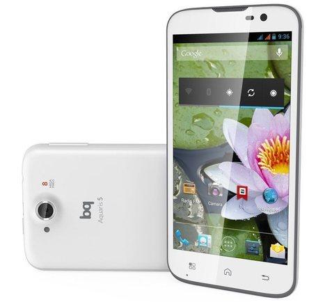 """Bq Aquaris 5, un móvil Android 4.2 con pantalla de 5 pulgadas por 200 euros   Informática """"Made In Spain""""   Scoop.it"""