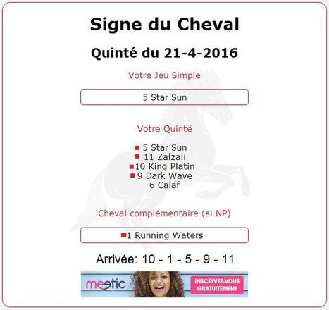 16 925.20 € au Quinté+ avec une mise de 4€ en ce Jeudi 21 Avril 2016. | Pariez avec ASTROQUINTE | Scoop.it