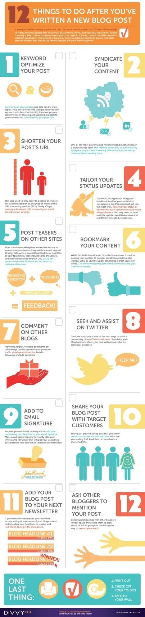 12 Things to do After You've Written a New Blog Post | Social Media News and Info | Scoop.it