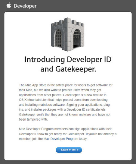 Apple Sends Out Invitation For Developers To Sign Up For Developer ID Ahead Of Mac OS X Mountain Lion ~ Geeky Apple - The new iPad 3, iPhone iOS 5.1 Jailbreaking and Unlocking Guides   Apple News - From competitors to owners   Scoop.it