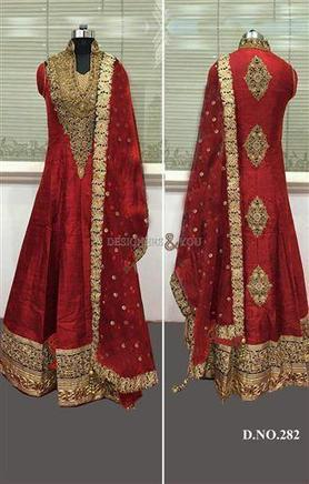 Anarkali Salwar Suits Hand Embroidery Designs D