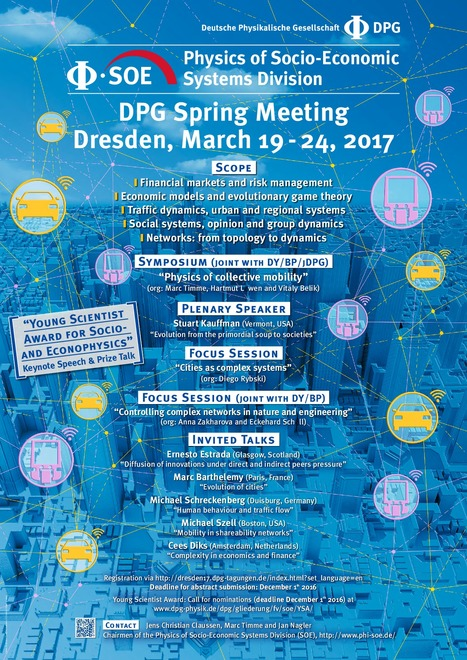DPG Spring Meeting, Physics of Socio-Economic Systems Division | CxConferences | Scoop.it