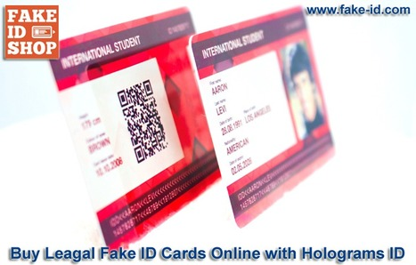 Buy Reliable Fake ID Cards, Student ID Online | Online Shop for Fake ID Cards | Scoop.it
