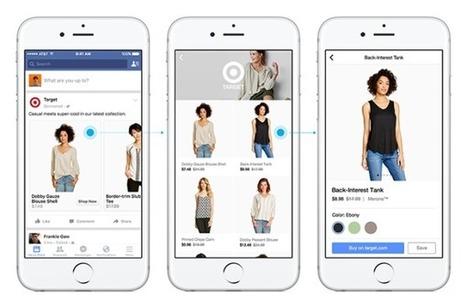Shopping : Facebook annonce plusieurs nouveautés pour le e-commerce mobile | Facebook Pages | Scoop.it