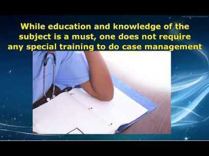 Role of a case manager