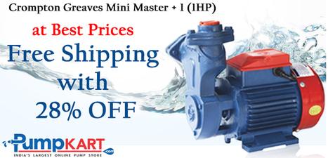 crompton 1 hp motor price