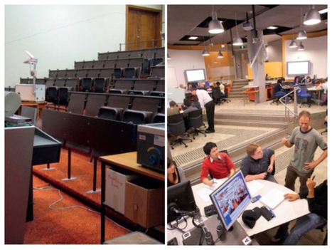 Insight for schools: Trends in university learning space design, big shift from lectures to collaborative learning   GRC HBC Professional Reading   Scoop.it
