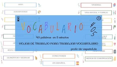 VOCABULARIO 405 | Español para los más pequeños | Scoop.it