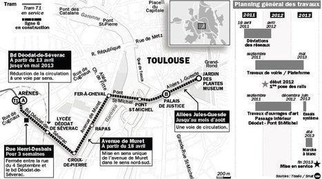 Chantier du tram : il va falloir être patient - Toulouse | Toulouse La Ville Rose | Scoop.it