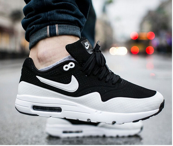 2015 nike air max 1 ultra moire oreo black and. Black Bedroom Furniture Sets. Home Design Ideas