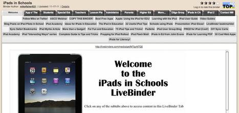 Apps in Education: iPads in Schools LiveBinder   iPad Apps for Middle School   Scoop.it