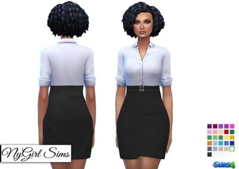 91ab1d90dd1 NY Girl Sims  Double Belted Business Dress